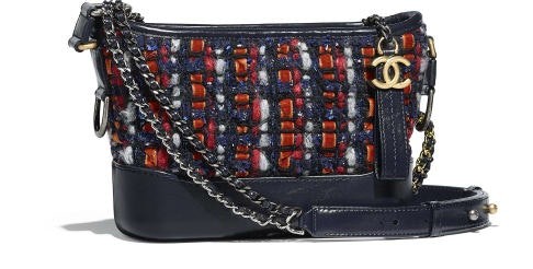 Chanel Gabrielle Hobo Small Navy/Orange/Red/White