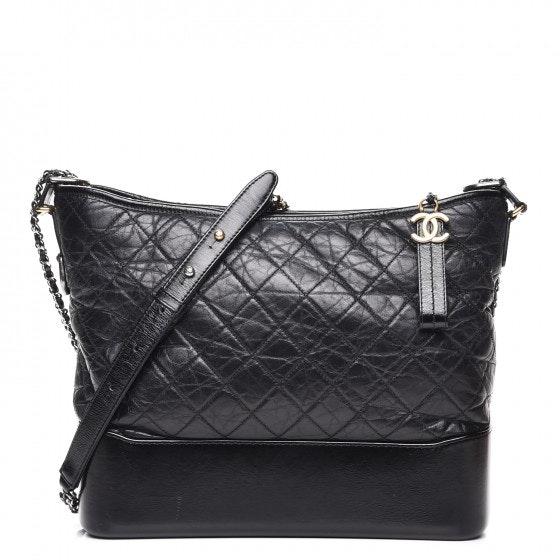 Chanel Gabrielle Hobo Quilted Diamond Large Black