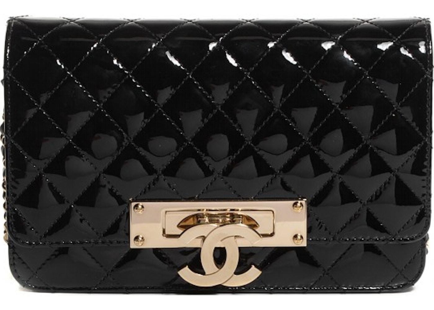 a73de8b517d3 Chanel Golden Class Wallet On Chain Patent Black. Patent Black