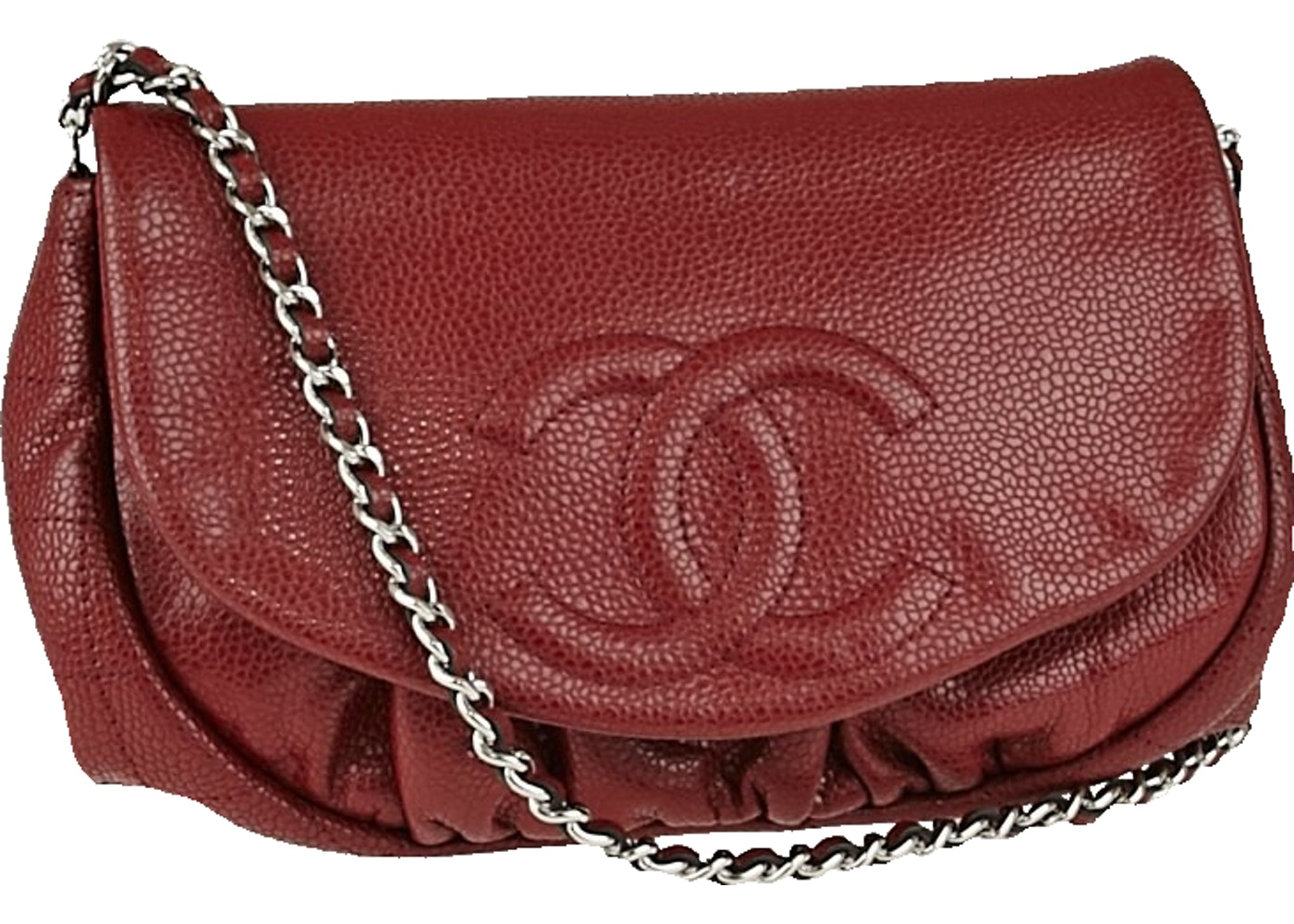 4f90cade7e2b Sell. or Ask. View All Bids. Chanel Half Moon Wallet on Chain Red