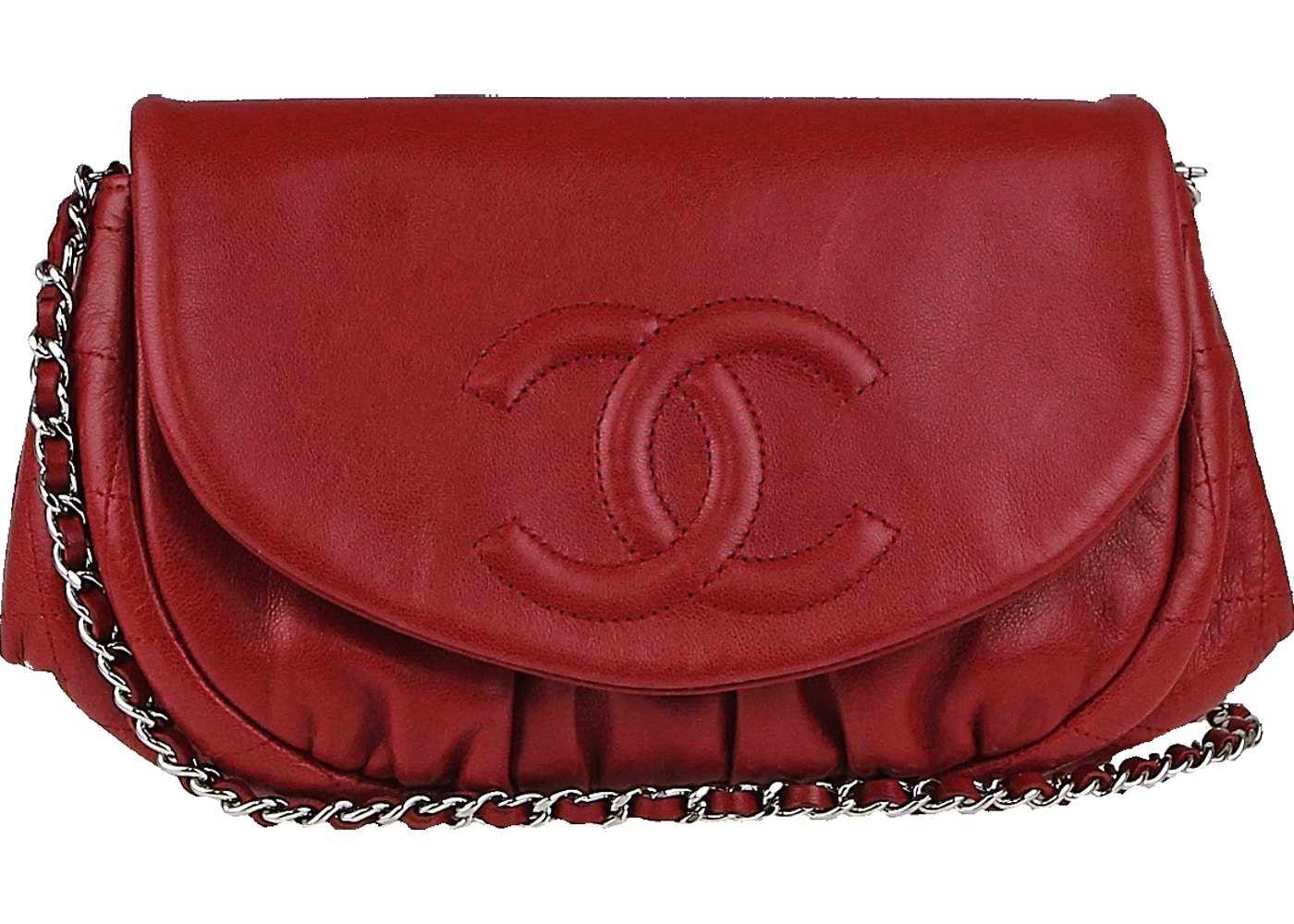 25e721048780 Sell. or Ask. View All Bids. Chanel Half Moon Wallet on Chain Red