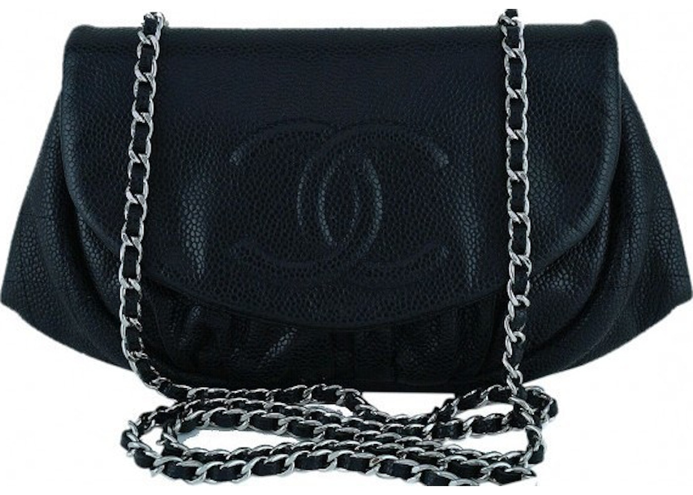 6e6f7622d161 Sell. or Ask. View All Bids. Chanel Halfmoon Wallet On Chain Black