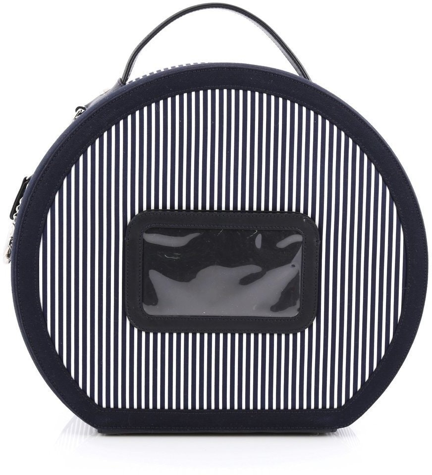 Chanel Hat Box  Navy Blue White