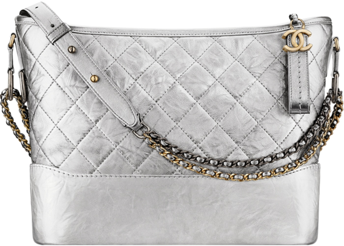a54dbeabfed7 Sell. or Ask. View All Bids. Chanel Gabrielle Hobo Gabrielle Quilted  Metallic Silver