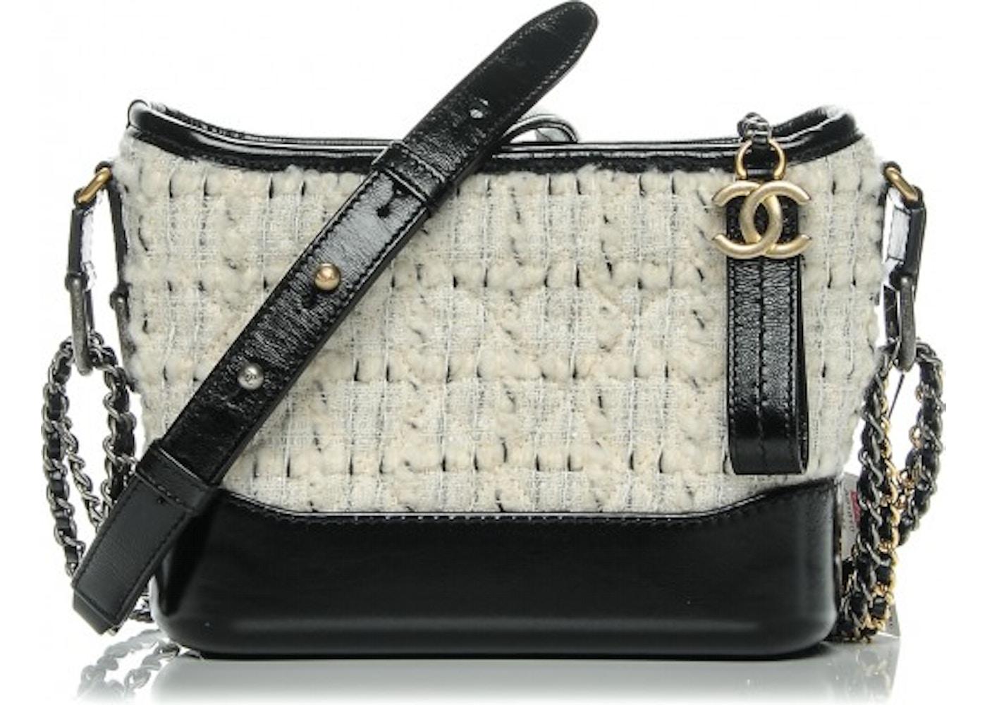 17a0b550220d Chanel Gabrielle Hobo Gabrielle Small Off-White Black