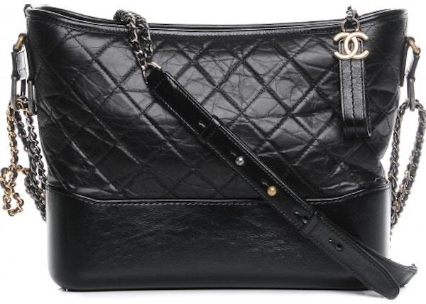 1956c95b53 Chanel Gabrielle Hobo Quilted Diamond Aged Medium Black