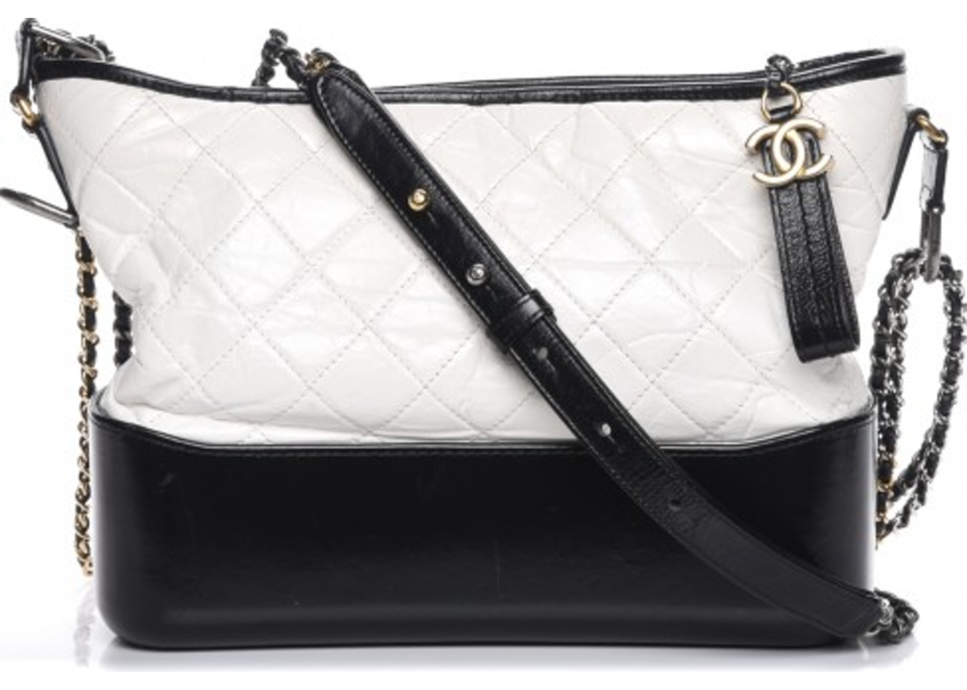 b65dca087e3e Chanel Gabrielle Hobo Diamond Gabrielle Quilted Aged/Smooth ...
