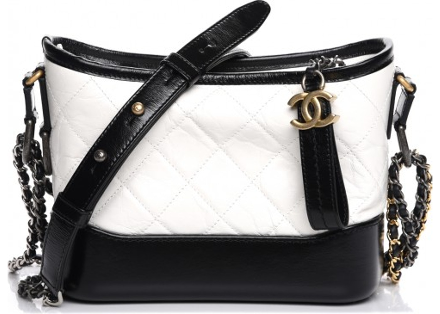 cc5f12cd7f81 Chanel Gabrielle Hobo Quilted Diamond Small Black/White. Quilted Diamond  Small Black/White