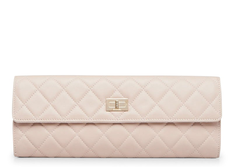 Chanel Jewelry Case Quilted Diamond Pink