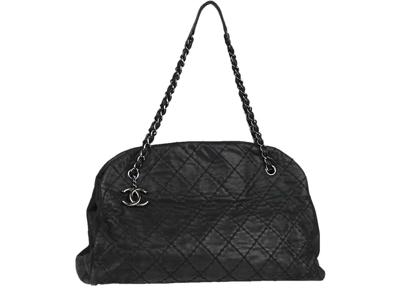 6fc1495aa877 Sell. or Ask. View All Bids. Chanel Just Mademoiselle Bowler Quilted  Iridescent ...