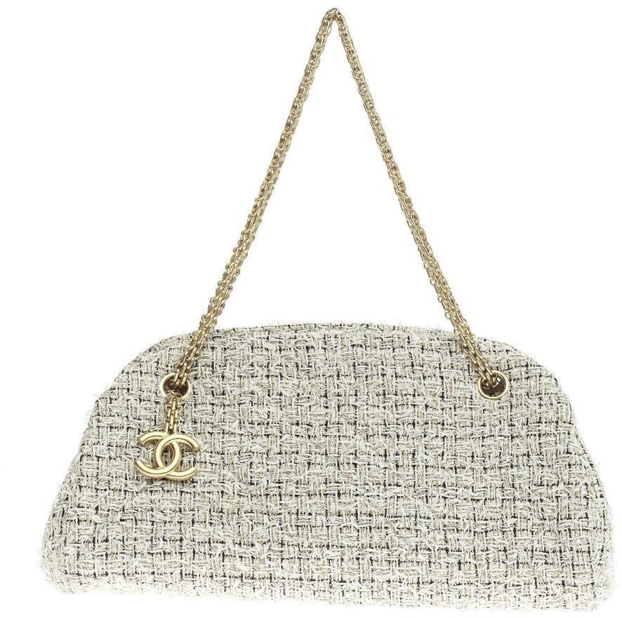 Chanel Just Mademoiselle Bowler Quilted Medium Beige