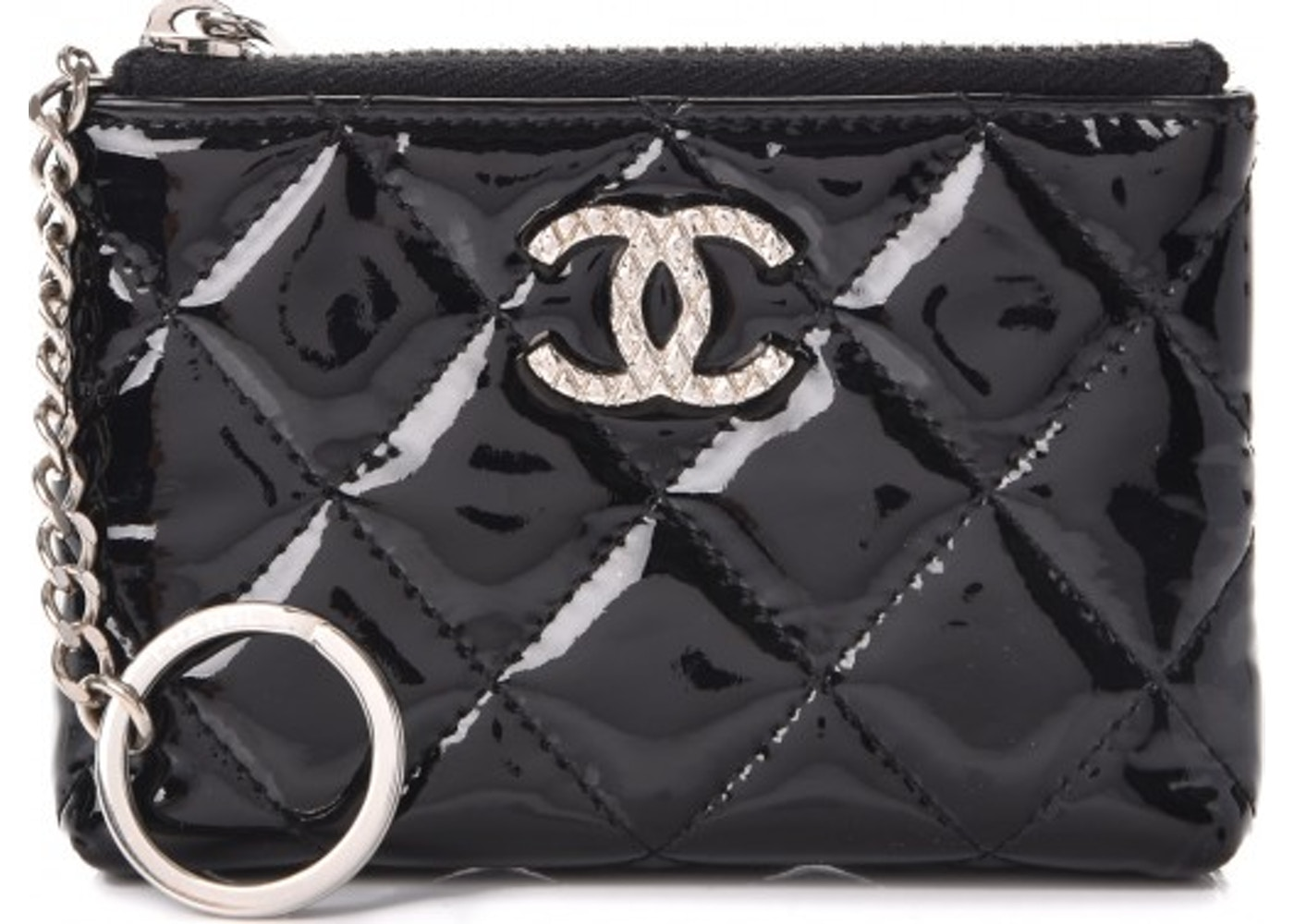 d29b30ca20fbdc Chanel Key Holder Case Quilted Diamond Black. Quilted Diamond Black