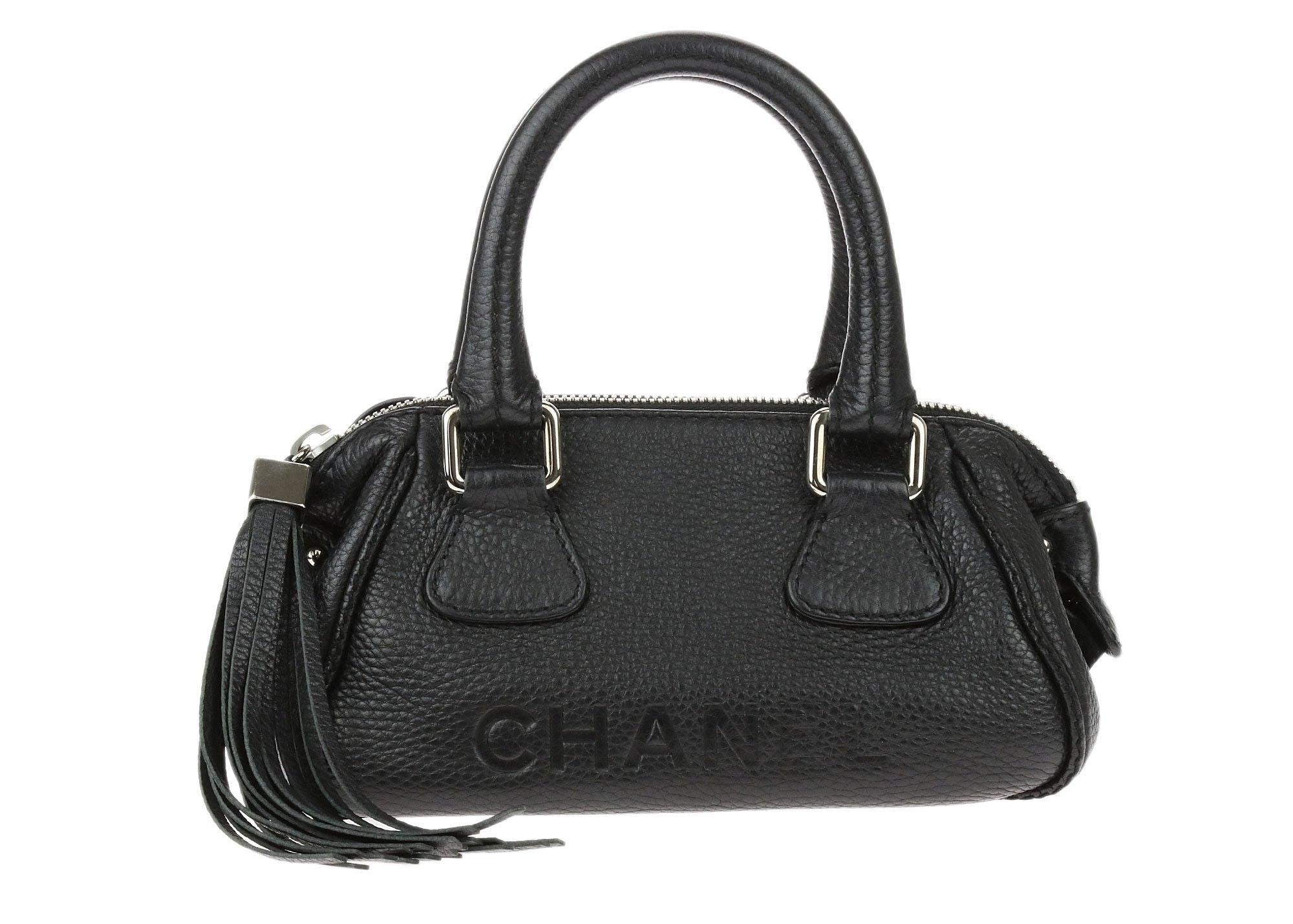 Chanel Lax Tessel Bowler Black