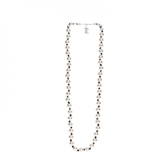 Chanel CC Pearl Long Necklace