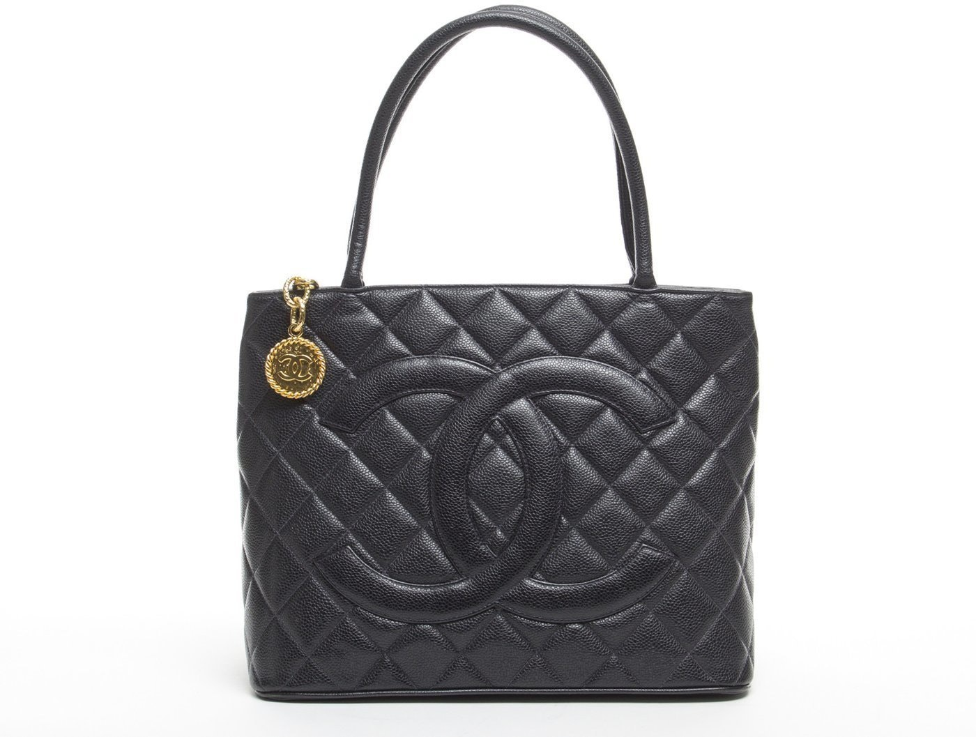 Chanel Medallion Tote Quilted Black