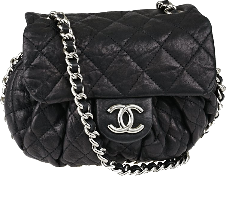 Chanel Messenger Chain Around Quilted Small Black