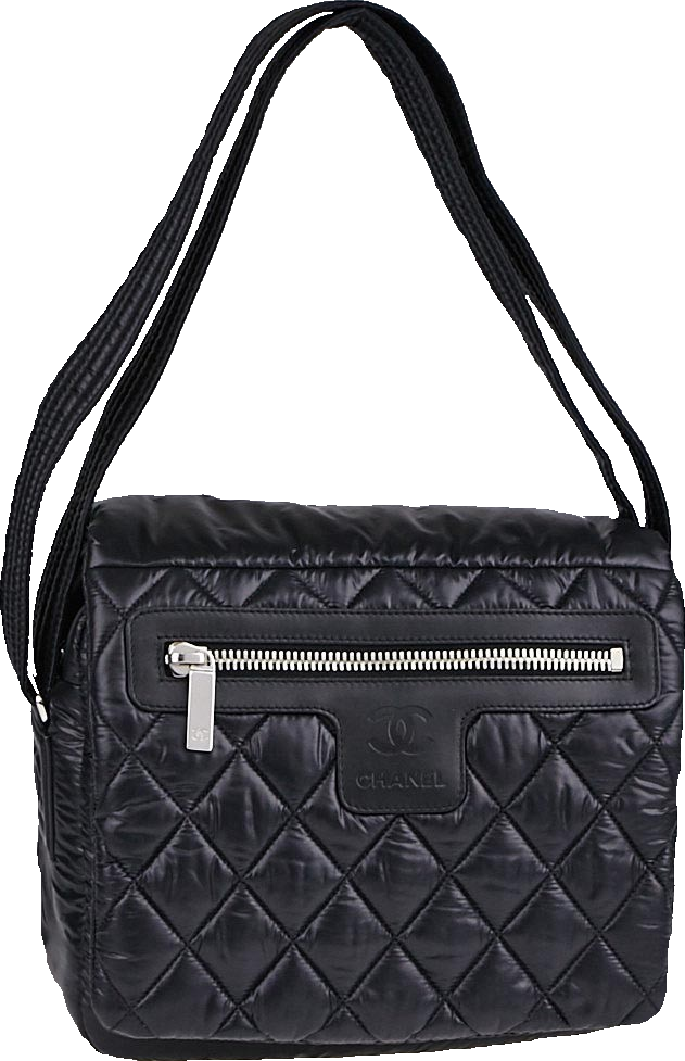 Chanel Messenger flap Coco Cocoon Quilted Small Black