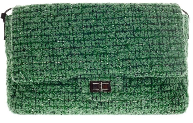 Chanel Messenger Flap Easy 2.55 Quilted Jumbo Green