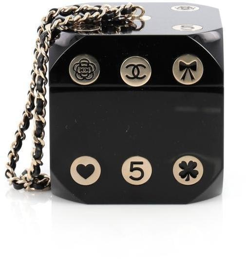 Chanel Minaudiere Dice Black