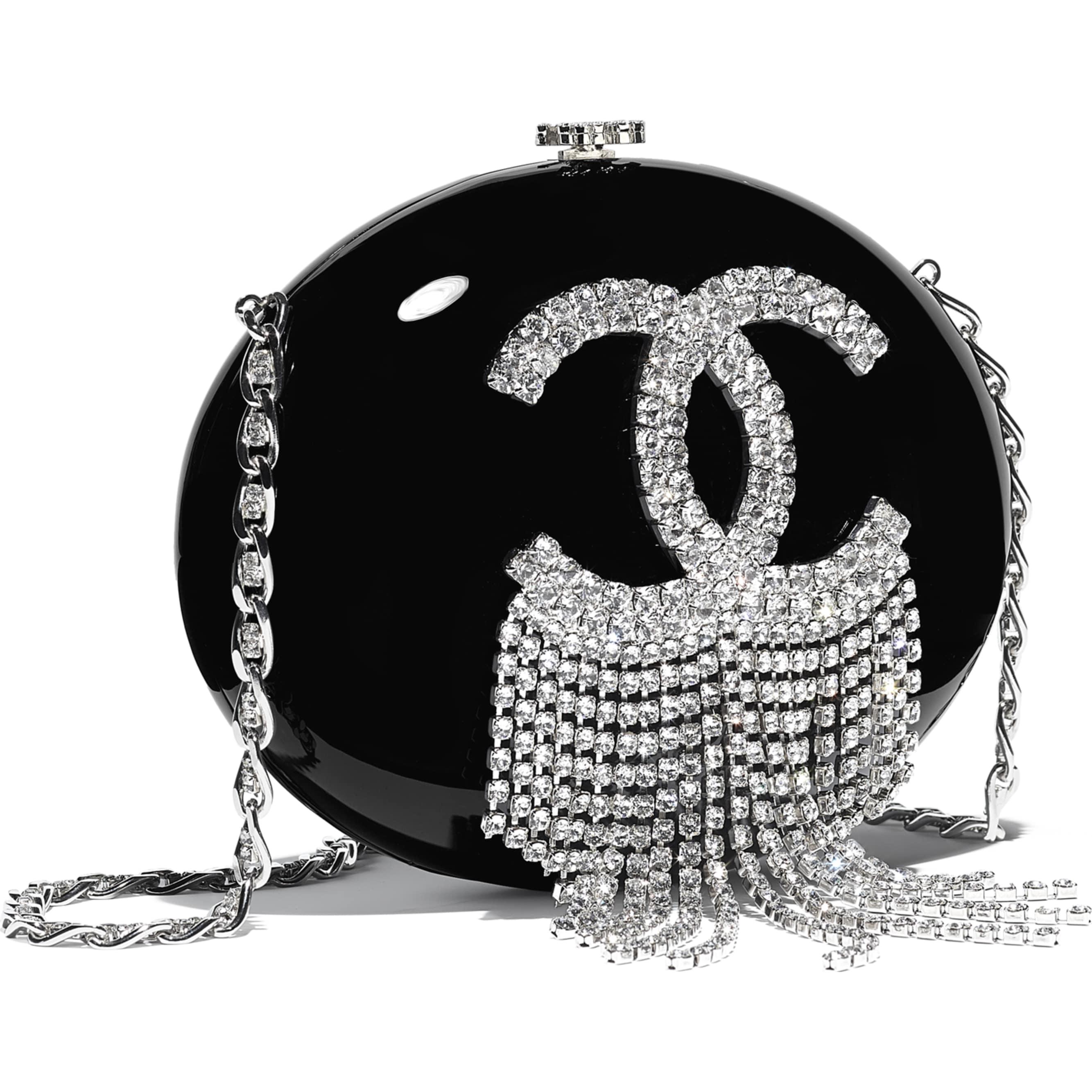 Chanel Minaudiere Resin/Strass Black