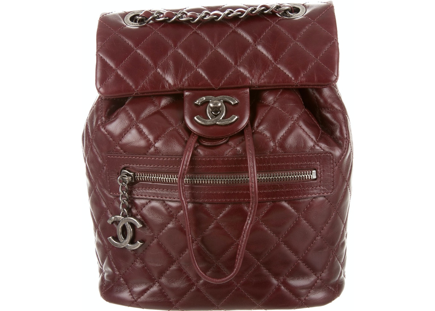 128ce95924c8 Sell. or Ask. View All Bids. Chanel Mountain Backpack Quilted Glazed Small  Bordeaux