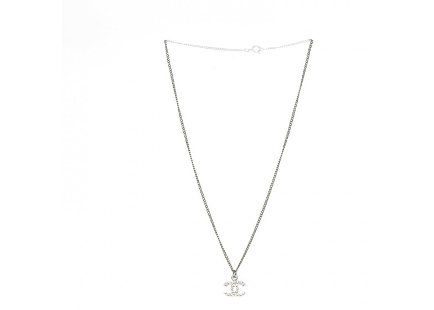 coupon codes picked up size 40 Chanel Timeless CC Necklace Crystal