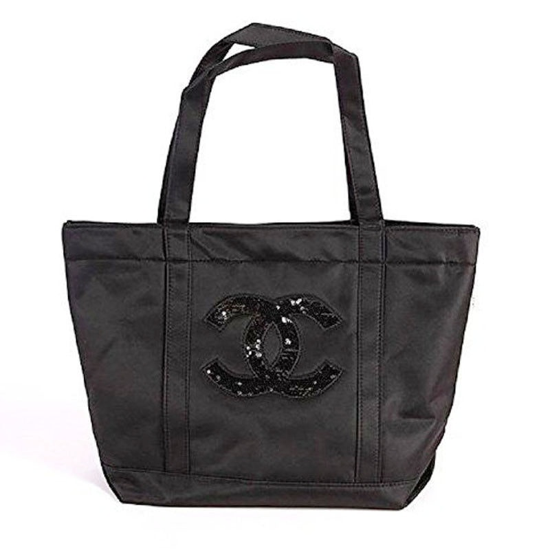Chanel Percision VIP Tote CC Logo Sequin Black