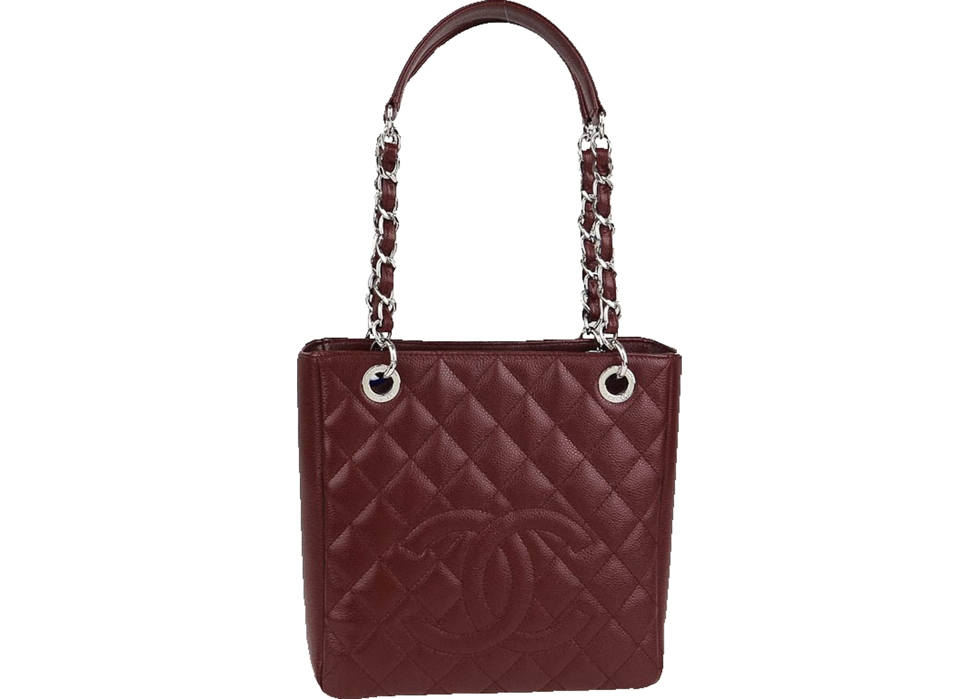 6d1a6184f7d7 Sell. or Ask. View All Bids. Chanel Petite Shopping Tote Quilted Bordeaux