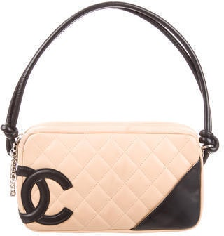 Chanel Pochette Ligne Cambon Quilted Beige/Black