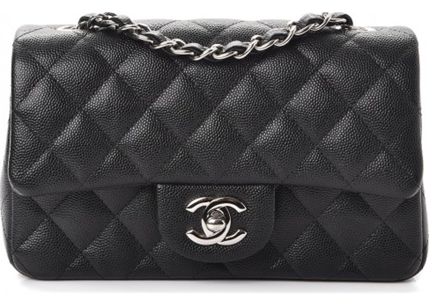 cedb9a381582c5 Chanel Rectangular Flap Quilted Diamond Mini Black/Burgundy. Quilted  Diamond Mini Black/Burgundy