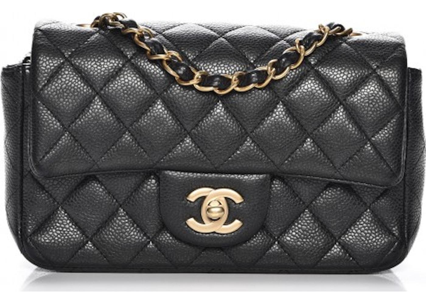 72d10626989d Chanel Rectangular Flap Quilted Diamond Mini Black. Quilted Diamond Mini  Black