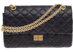 c0b6585ab9eb Chanel Reissue 2.55 Classic Double Flap Quilted Aged 225 Black