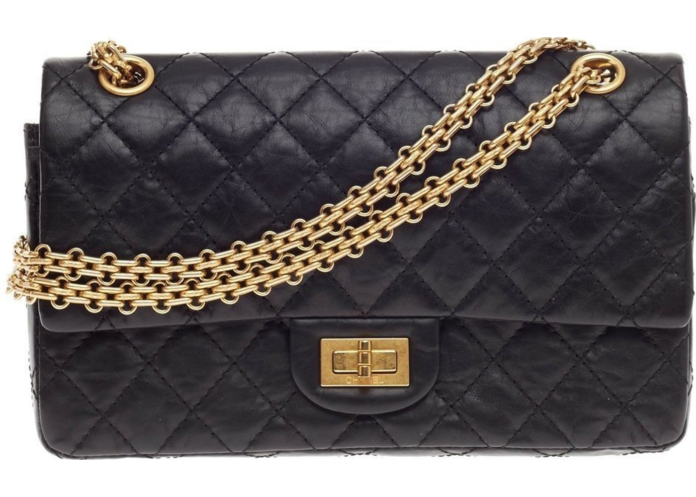 b05968c09d82 Sell. or Ask. View All Bids. Chanel Reissue 2.55 Classic Double Flap  Quilted Aged 225 Black