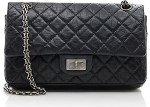 0a0195b4492c Chanel Reissue 2.55 Classic Double Flap Quilted Aged 225 Black