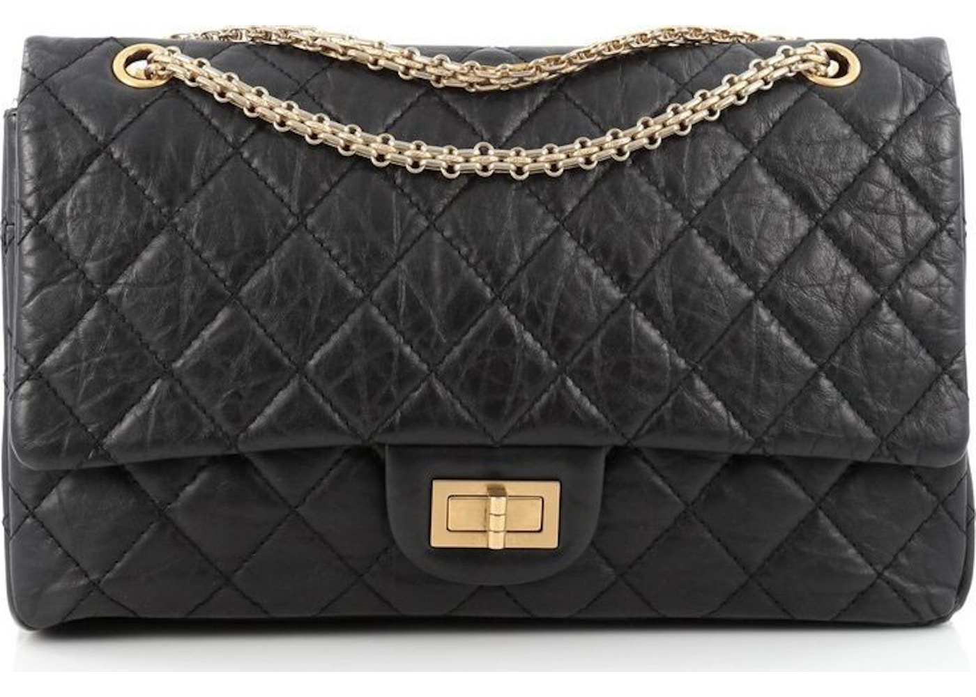 e704b338749cfc Chanel Reissue 2.55 Classic Double Flap Quilted Aged 227 Black. Quilted  Aged 227 Black