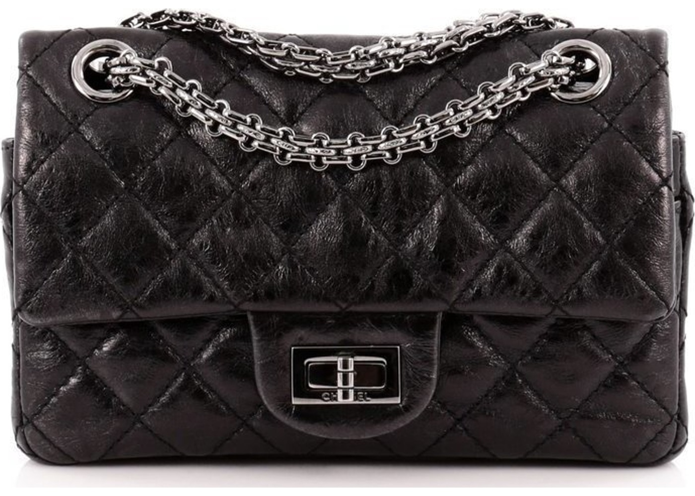 901f47b321b1 Sell. or Ask. View All Bids. Chanel Reissue 2.55 Classic Double Flap  Quilted Aged 224 Black