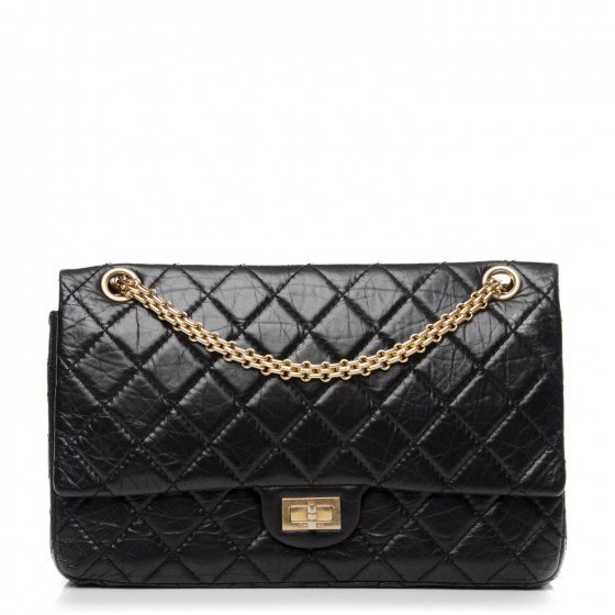 Chanel Reissue 2.55 Classic Double Flap Quilted Aged 226 Black