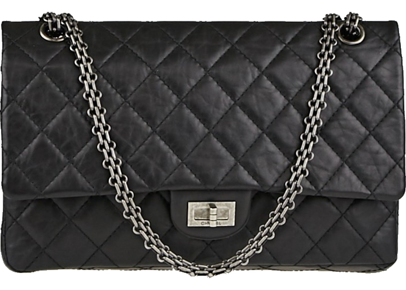 4608a52aef67 Chanel Reissue 2.55 Classic Double Flap Quilted Aged 226 Black