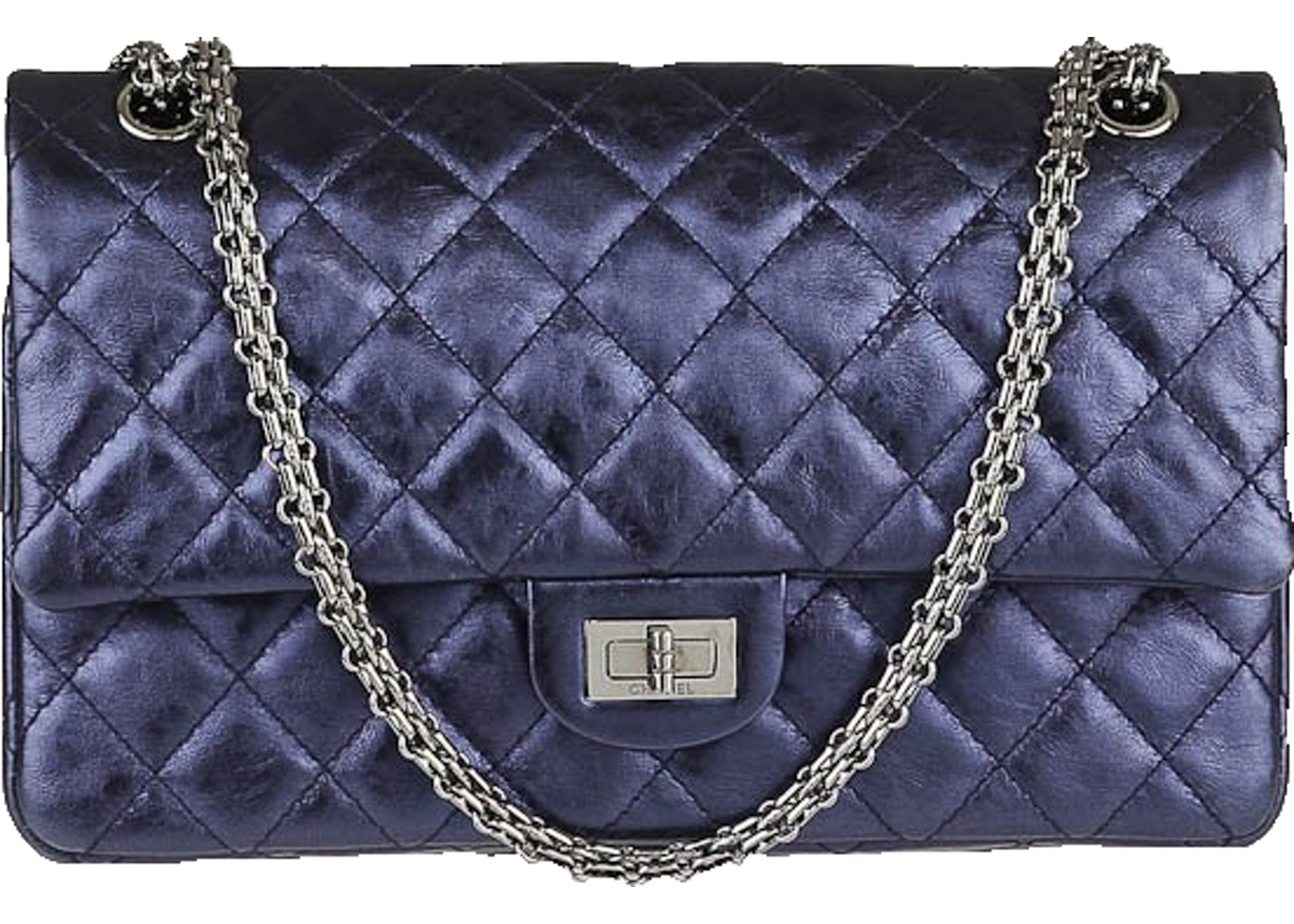 9d2f46145c0190 Sell. or Ask. View All Bids. Chanel Reissue 2.55 Classic Double Flap Quilted  Metallic 226 Navy Blue