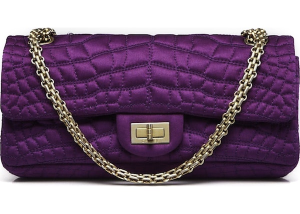 a7d017009702 Chanel Reissue 2.55 East West Flap Quilted Purple
