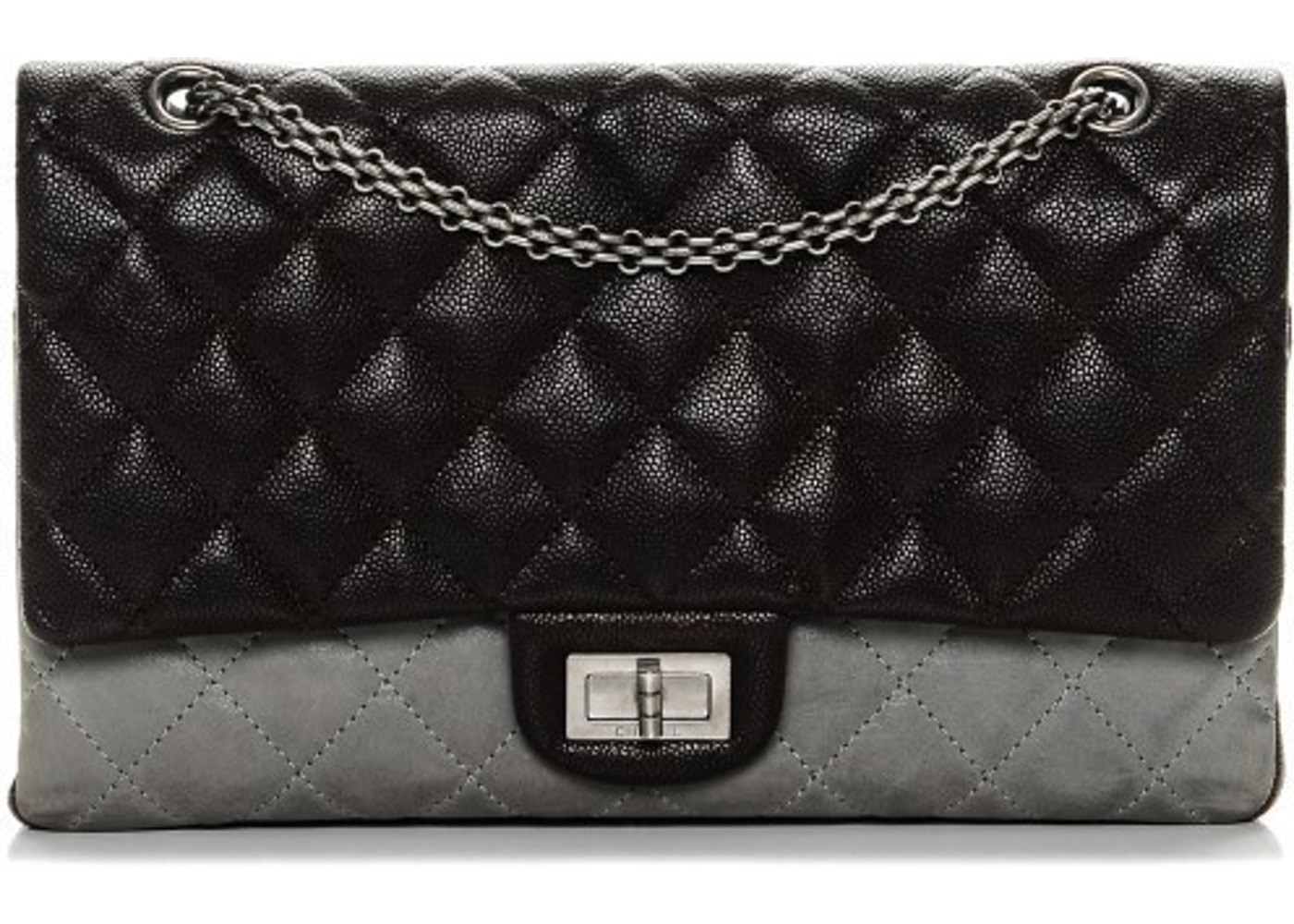 2bf73fe67744 Chanel Reissue 2.55 Classic Flap Diamond Quilted 227 Brown/Grey