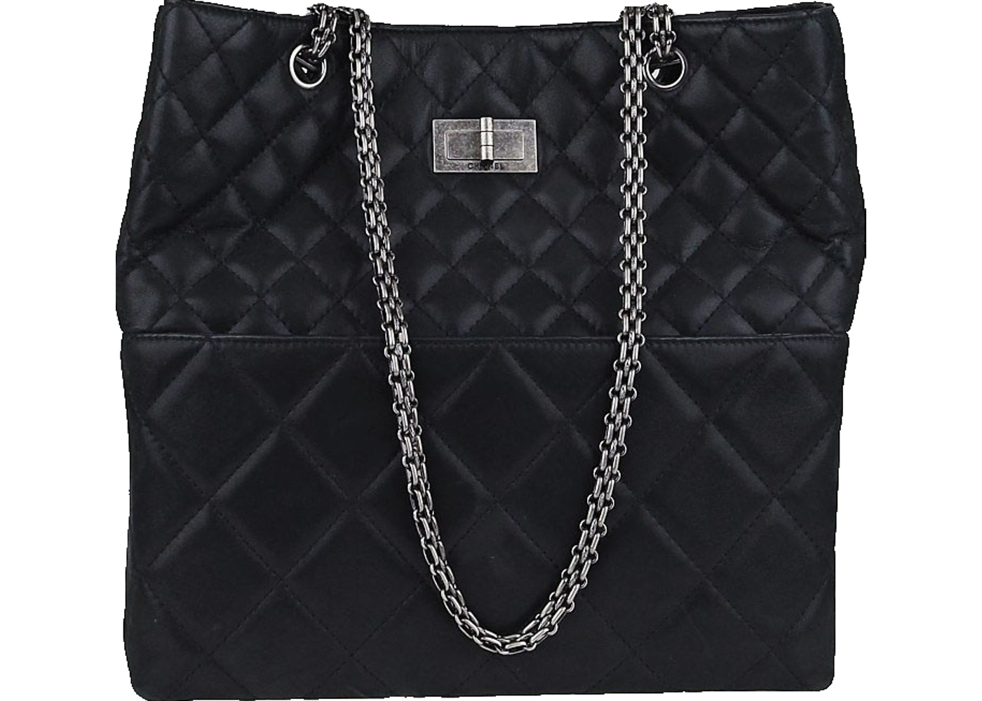 c3b555932932 Sell. or Ask. View All Bids. Chanel Reissue 2.55 Tote In the Business  Quilted Iridescent Black