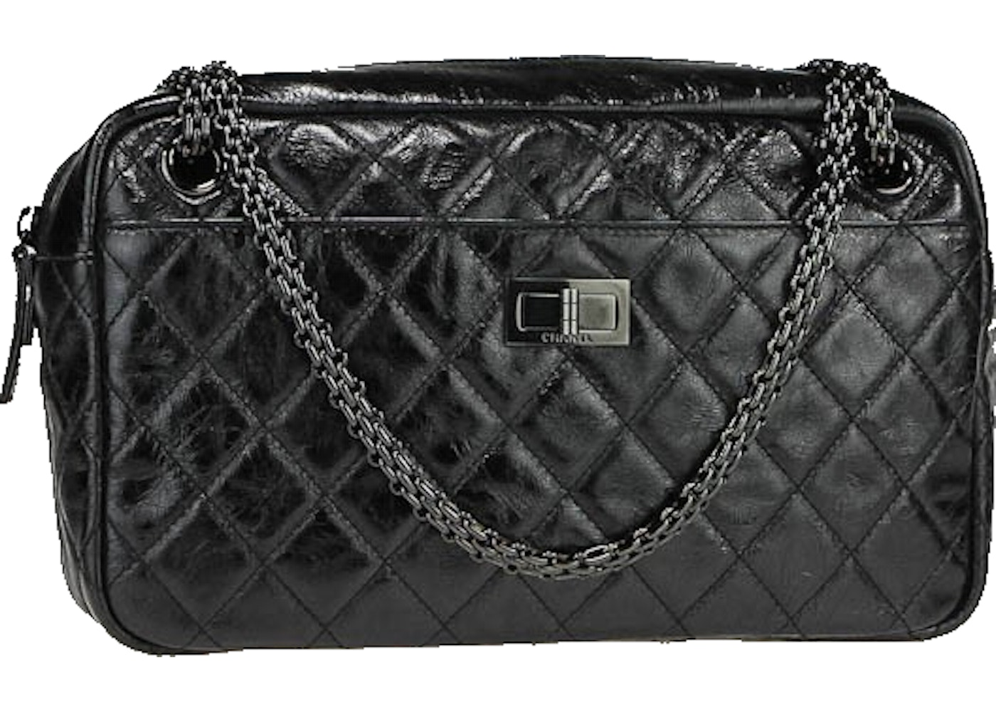 da0ad7b7a6be Sell. or Ask. View All Bids. Chanel Reissue Camera Bag Quilted Metallic  Aged Medium Black
