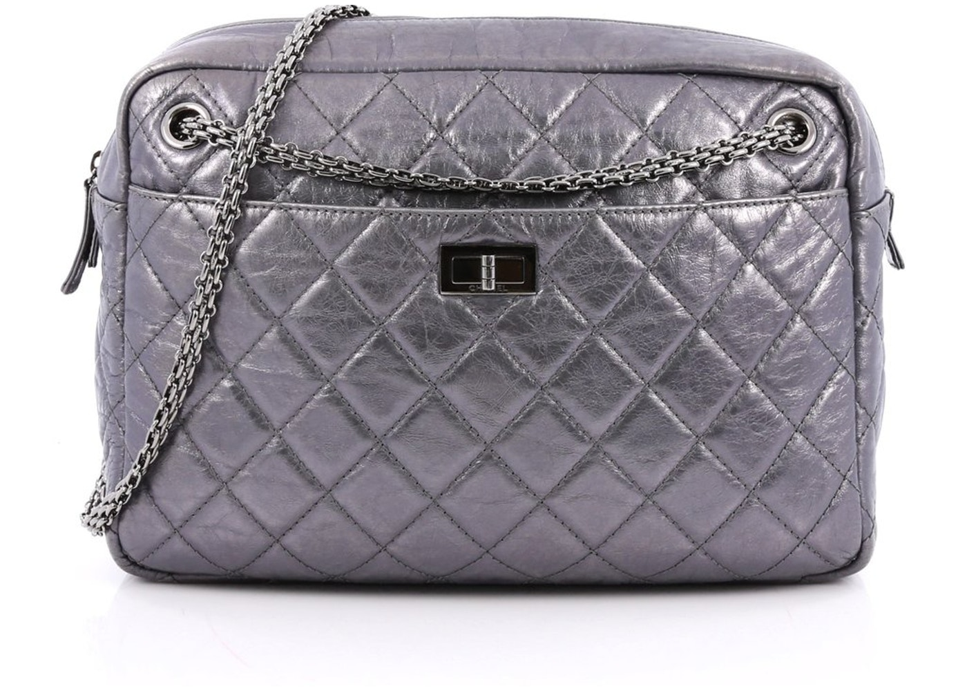 f10836496731e8 Chanel Reissue Camera Bag Quilted Metallic Large Silver. Quilted Metallic  Large Silver