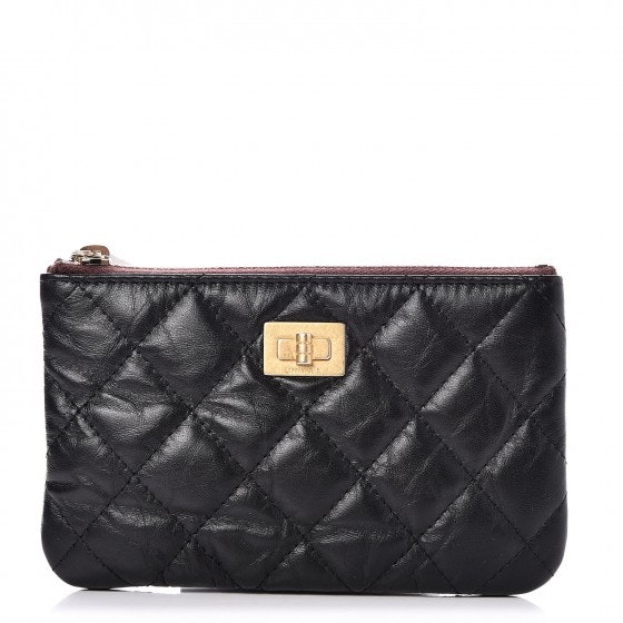 Chanel Reissue Cosmetic Case Quilted Diamond Small Black