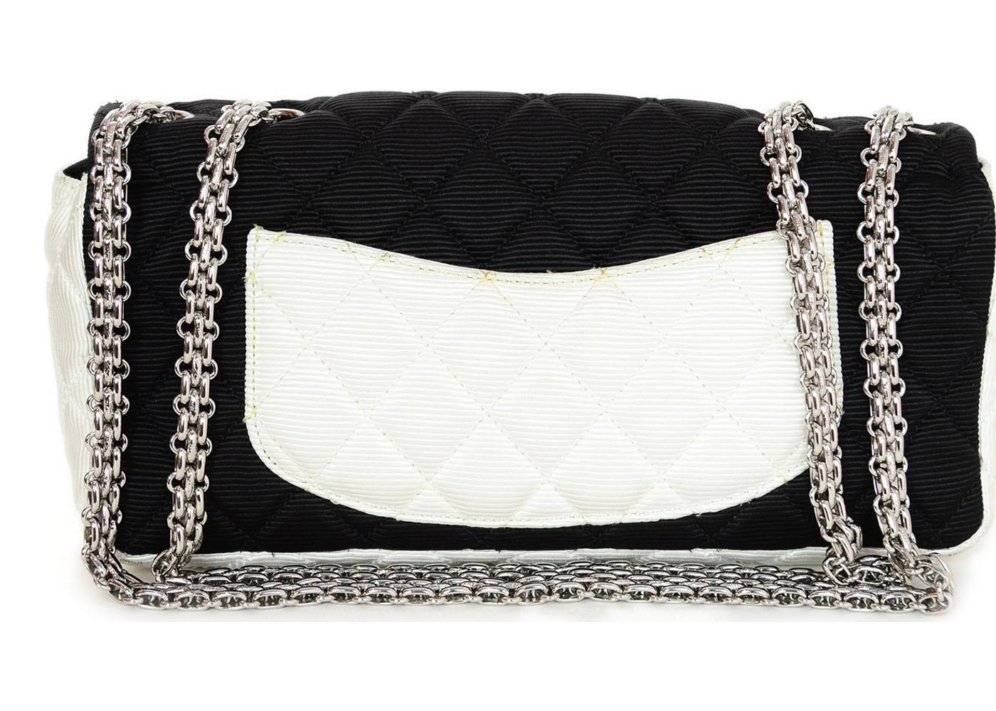 38921741aa2c Chanel Reissue East West Flap Bag Quilted Grosgrain Black/White