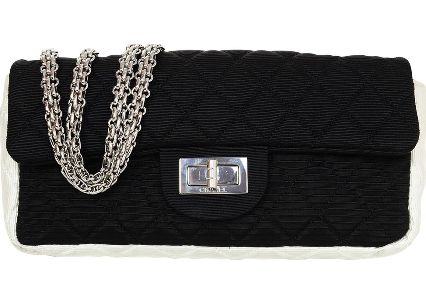 0e2b47fd68d7 Chanel Reissue East West Flap Bag Quilted Grosgrain Black/White. Quilted  Grosgrain Black/White