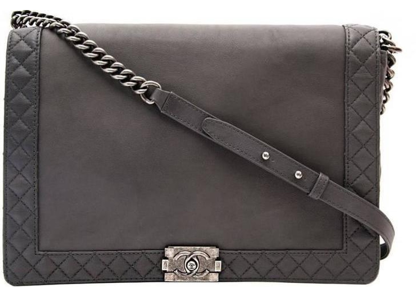 63fde9161e97 Sell. or Ask. View All Bids. Chanel Reverso Boy Flap Quilted Maxi Gris