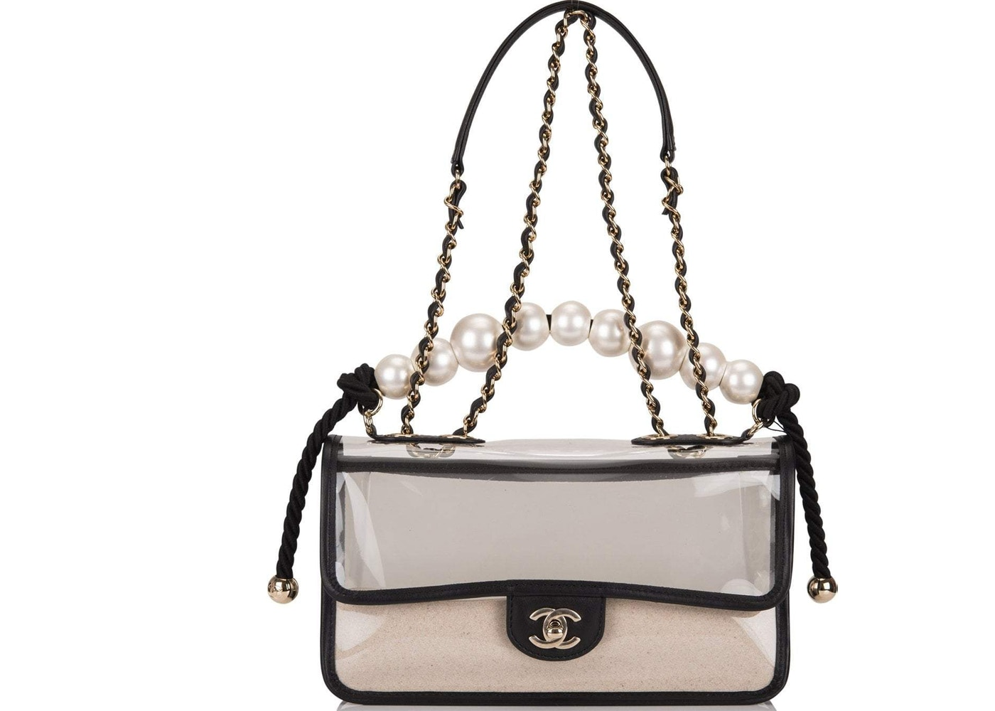 10f5c51a5 View All Bids. Chanel Sand By The Sea Flap Bag Pearl Clear. Pearl Clear