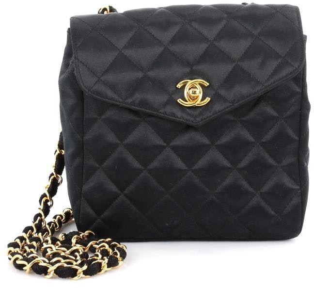 Chanel Vintage Satin Flap Quilted Small